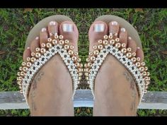 Chinelo customizado com perolas! Bombom Indiano! Por Maguida Silva - YouTube