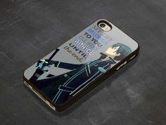 Sword art online kirito quote iPhone 4/4s/5/5c/5s by Donten, $14.53