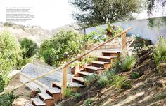 Brilliant use of a hillside yard...November 2013 - Lonny Magazine - Lonny