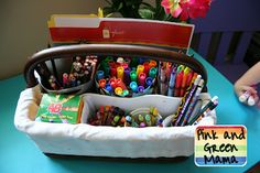 mini writing centers. {travel totes, lap desks, clipboards too.}