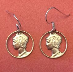 CUTOUT SILVER MERCURY DIME EARRINGS WITH STERLING SILVER WIRE HOOKS