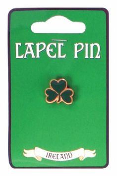 """Lapel Pin with Green Shamrock Dublin Gifts. $3.95. Lapel pin measures approximately 5/8"""" wide.. Shamrock pin in gold and green.. Perfect St. Patrick's Day pin!"""