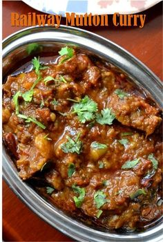 The story goes that this mutton curry recipe is served in all first class compartments on indian trains... Regardless, this is a first...
