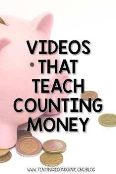 Counting Money Teaching Videos - Teaching Second Grade Teaching Money, Teaching Time, Teaching Activities, Teaching Math, Money Activities, Counting Activities, Science Resources, Teaching Tools, Teaching Resources