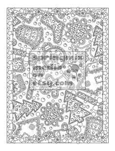 This Christmas Comfort coloring page is so pretty fun and holiday