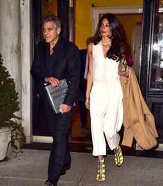 Amal and George Clooney spotted in New York 27.03.2015.