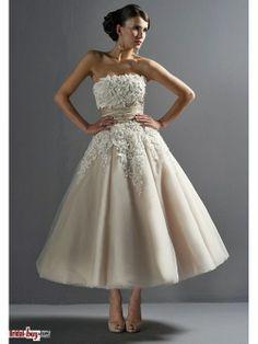 Affordable Princess Appliques Ruched Short Champagne Wedding Dresses  Under 200 WAD-7086