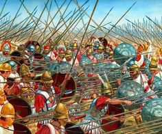 battle of magnesia | IGOR DZIS BATTLE PAINTING: The Battle of Sellasia 222 BC