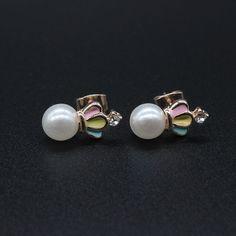 Élégant Femme Argent Sterling 925 Plaqué Chrysanthème Ear Stud Charme Boucle d/'oreille