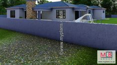 1_19 Double Garage, Bedroom House Plans, Open Plan Living, Living Area, My House, Houses, How To Plan, Double Carport, Homes