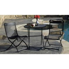 Woodard Tribeca 3 - Pc. Folding Bistro Set by WOODARD. $159.99. Woodard Tribeca 3 - Piece Folding Bistro Set... relax and sip a cappuccino at this cafe - style lounge spot! Accent your patio with this gorgeous Tribeca 3-Piece Folding Bistro Set! Made to resemble the look of sidewalk cafs in the heart of New York... smooth curves on each chair create a comfy sitting position, and the foldable designs sets up and tears down in a snap. Made with solid steel, and treated ...