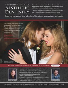 Nashville Center for Aesthetic Dentistry - prepless veneer smile design by #DrDennisWells