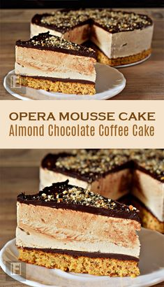 Opera Mousse Cake Become a patron of Kata Nemes today: Read 34 posts by Kata Nemes and get access to exclusive content and experiences on the world's largest membership platform for artists and creators. Cheesecake Recipes, Cupcake Recipes, Cupcake Cakes, Dessert Recipes, Cupcakes, Nut Recipes, Sweet Recipes, Baking Recipes, Mini Desserts