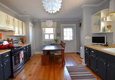 BM's Stonington Gray - Eclectic Kitchen design by New York Furniture And Accessories Kelly Donovan