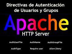 Autenticación Usuarios y Grupos Apache