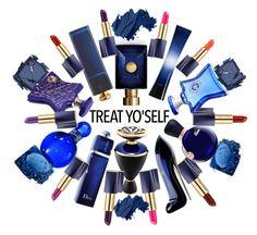 """True Bleu"" by agib ❤ liked on Polyvore featuring Estée Lauder, Carolina Herrera, Christian Dior, Bond No. 9, Lacoste, Bulgari, Giorgio Armani, Versace, Bobbi Brown Cosmetics and Surratt"
