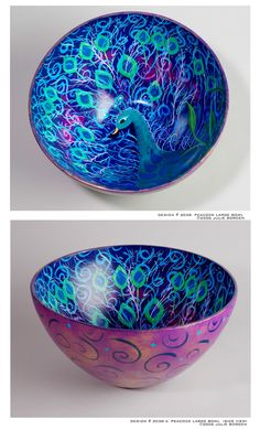 Gorgeous, gorgeous peacock bowl from Juleez.com