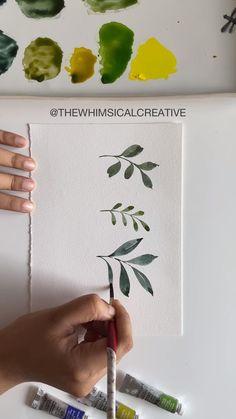 Watercolor Paintings For Beginners, Watercolor Art Lessons, Watercolor Cards, Watercolor Illustration, Floral Watercolor, Watercolor Video, Watercolor Techniques, Drawing Techniques, Watercolor Flowers Tutorial