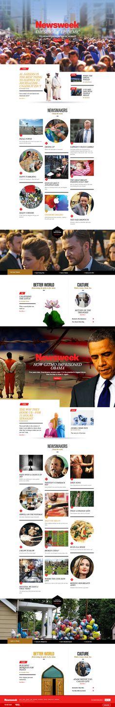 Cool Web Design, NewsWeek. #webdesign #webdevelopment [http://www.pinterest.com/alfredchong/]