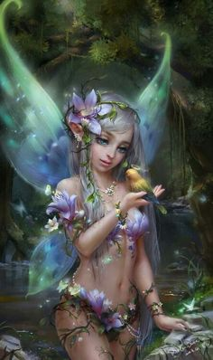 """Fairy Love ❤❦♪♫Thanks, Pinterest Pinners, for stopping by, viewing, re-pinning, & following my boards.  Have a beautiful day! ^..^ and """"Feel free to share on Pinterest ♡♥♡♥  #fairytales4kids #elfs #Fantasy  #fairies"""