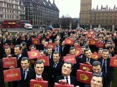 George Osborne stunt for the IF campaign