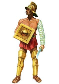 The Thracian, Roman Gladiator, 100 BC - AD 200 - Art Girona White ...