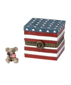 Look what I found on #zulily! Flag Box & Liberty McNibble Figurine #zulilyfinds