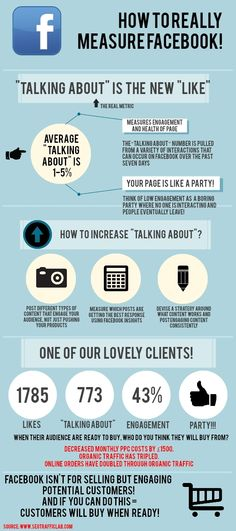 How to really measure FaceBook! Talking About is the New Like #infographic