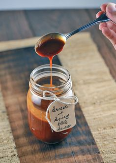 Sweet and Spicy Barbecue Sauce Recipe - Enjoy with all your favorite grilled meats! | jessicagavin.com