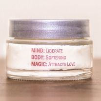 """The+perfect+body+moisturizer.+This+rich,+thick+creme+is+""""Divine""""+in+more+ways+than+one.+    Handcrafted+with+soothing+oils,+nut+butters+and+an+added+positive+energy+charged+gem+elixir,+it+softens+your+skin+and+uplifts+your+heart.+With+a++blend+of+specific+essential+oils,+Liberate+counteracts+the+..."""