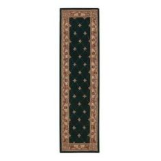 Home Decorators Collection Windsor Hunter Green 2 ft. x 9 ft. 6 in. Runner  on  Daily Rug Deals