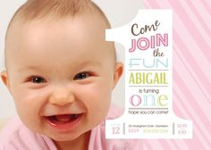 1st BIRTHDAY girls  invitaition  DIGITAL file  by uniqueboutiquewv, $10.50