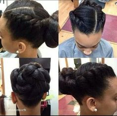 I love this Flat twists and Twisted bun look..looks comfortable to wear as well