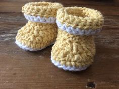Cuffed Crochet Baby Booties by MaeDayCrochetShop on Etsy Crochet Baby Booties, Booty, Etsy, Accessories, Collection, Baby Boots, Doll Clothes, Bebe, Swag