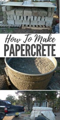 How To Make Papercrete — Papercrete is the ultimate building material for preppers, homesteaders, and off grid living enthusiasts. It is easy and cheap to make. It also could solve your paper and cardboard recycling problems. Literally!
