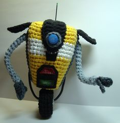 Nerdigurumi - Free Amigurumi Crochet Patterns with love for the Nerdy » » Borderlands 2 Claptrap (CL4P-T4P) Amigurumi Pattern