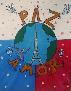 A Paz que o mundo espera ver - Pintura (Acrílica) - Juliano Silva