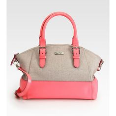 Kate Spade New York Sloan Small Mixed-Media Satchel ($378) ❤ liked on Polyvore