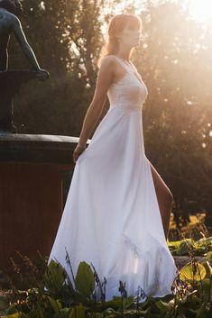 Beach wedding dress - lace wedding dress - bohemian wedding dress from Batel Boutique Lace Beach Wedding Dress, Bohemian Wedding Dresses, Dress Lace, One Shoulder Wedding Dress, Lace Wedding, Boutique, Group, Collection, Business