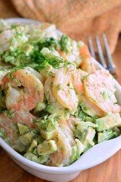 boiled shrimp Avocado Shrimp Salad The BEST Avocado Cold Shrimp Salad. This shrimp salad is made with delicious boiled shrimp, fresh avocado, fresh dill weed, green onions, Shrimp Avocado Salad, Seafood Salad, Seafood Dishes, Seafood Recipes, Cooking Recipes, Egg Salad, Recipes Dinner, Cold Shrimp Salad Recipes, Shrimp Stuffed Avocado
