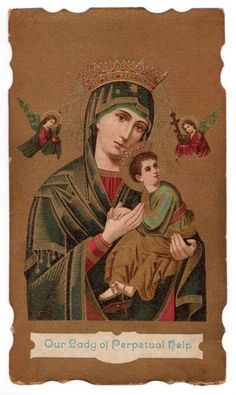 Our Lady of Perpetual Help Vintage Holy Card St Hyacinthe