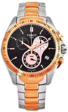 Tissot Men's T0244172205100 Veloci-T Stainless-Steel Quartz Black Dial Watch Tissot. $615.00