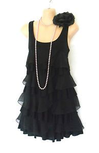 Roaring 20s Fashion | Details about H&M FAB BLACK ROARING 20S DECO STYLE TIERED FLAPPER ...