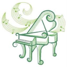 Music Notes 3 10(Md) machine embroidery designs