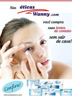 Vem comprar suas lentes de contato com a gente! Frete Grátis para todo Brasil! www.oticaswanny.com #contact #lenses #online #shop #oticas #wanny