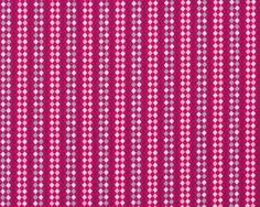 Feiner Popeline-Patchworkstoff Floressence mit feinen Rauten-Streifen, fuchsia-hellgrau