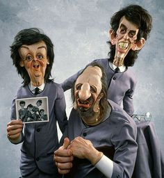 Caricaturas chistosas The Beatles