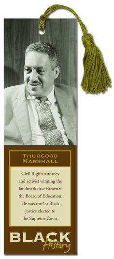 Celebrate Black History Month with this Thurgood Marshall bookmark.