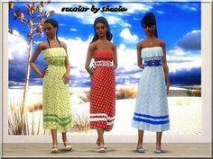 Maxi dress recolor by Sheela - Sims 3 Downloads CC Caboodle