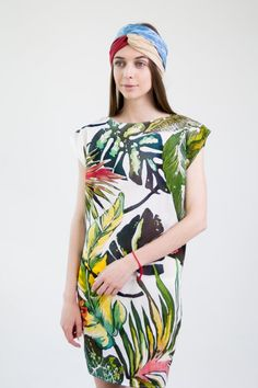 Hand painted silk dresses Silk painting FREE SHIPPING by PLANARTS